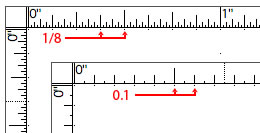 New ruler layout