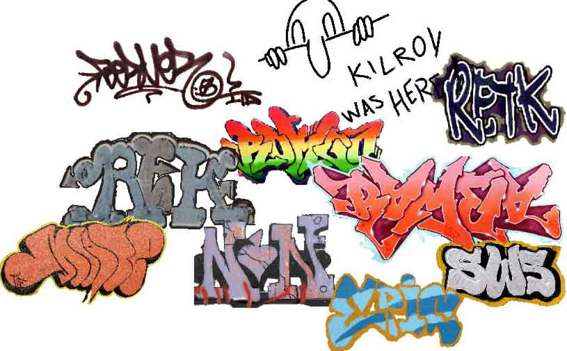 Put Graffiti images onto Model Builder walls, in the Model Builder program, with our Graffiti plug-in