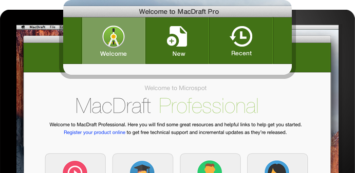 MacDraft Welcome Screen